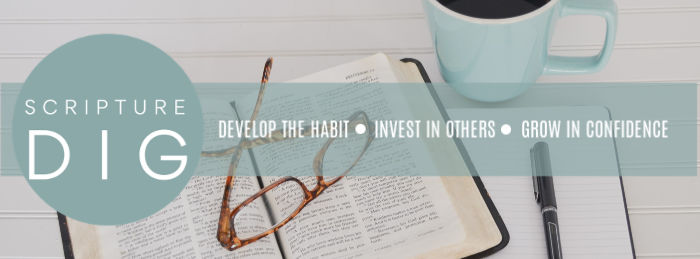 Scripture Dig: Develop the habit. invest in others. Grow in faith.